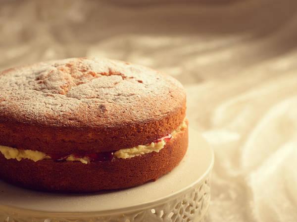 Sponge Photograph - Victoria Sponge Cake by Amanda Elwell
