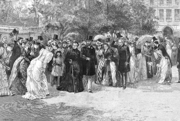 Royal Court Drawing - Victoria Takes Her Son's Arm by  Illustrated London News Ltd/Mar