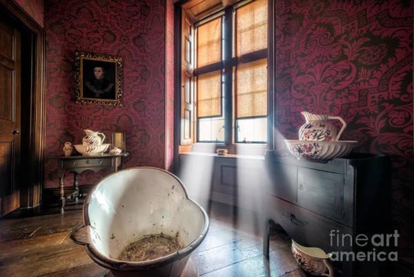 Enamel Wall Art - Photograph - Victorian Bathroom by Adrian Evans
