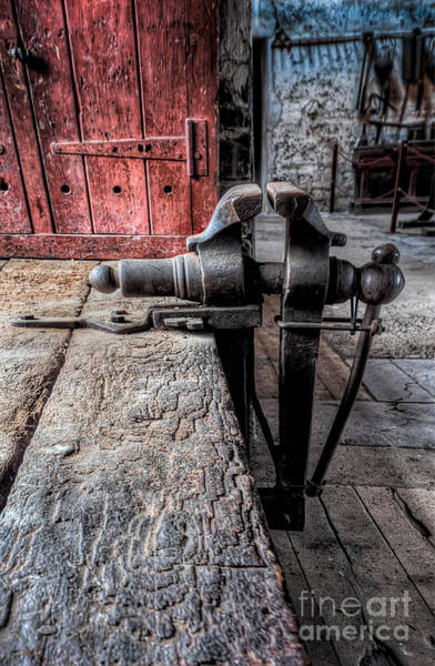 Hinge Photograph - Victorian Bench Vice by Adrian Evans
