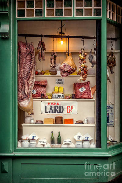 British Food Photograph - Victorian Butchers by Adrian Evans