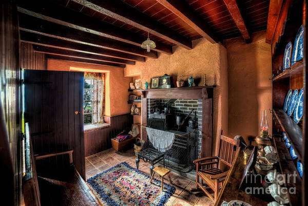 Fire Place Photograph - Victorian Cottage by Adrian Evans