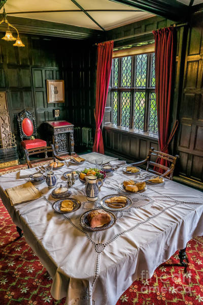 British Food Photograph - Victorian Dining by Adrian Evans