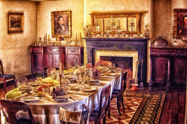 Digital Art - Victorian Dining Room by Mary Almond