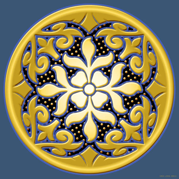 Wall Art - Digital Art - Victorian Door Knob Design by Greg Joens