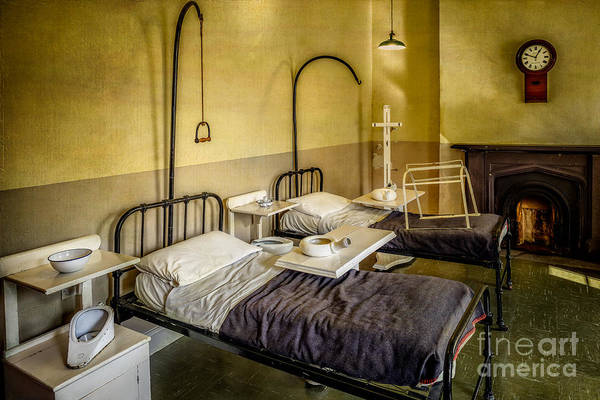 Fire Place Photograph - Victorian Hospital Ward by Adrian Evans