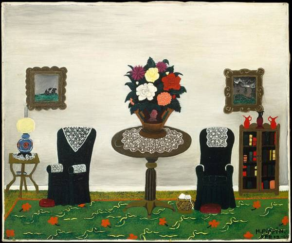Central America Painting - Victorian Interior II by Horace Pippin