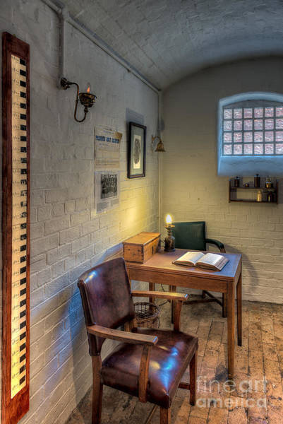 Book Shelf Photograph - Victorian Jail Office by Adrian Evans