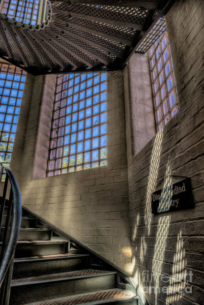 Banister Wall Art - Photograph - Victorian Jail Staircase by Adrian Evans