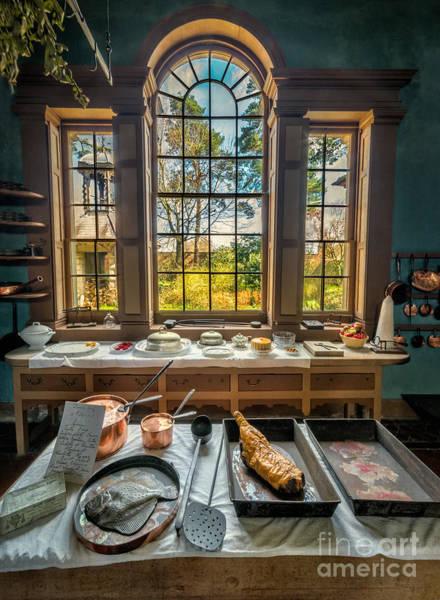British Food Photograph - Victorian Kitchen Window by Adrian Evans