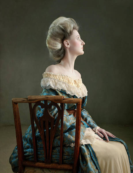 Gray Hair Photograph - Victorian Lady Sitting In Chair by Zena Holloway