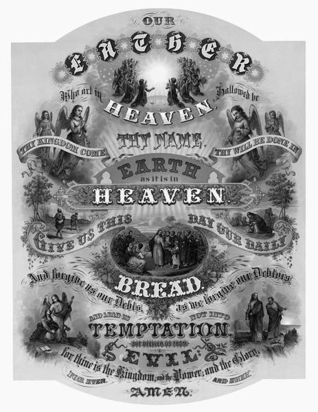 Wall Art - Photograph - Victorian Lords Prayer by Daniel Hagerman