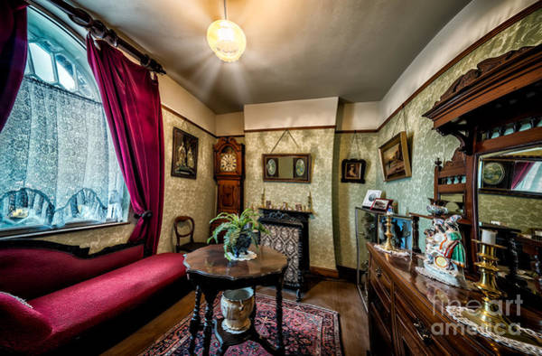 Fire Place Photograph - Victorian Lounge by Adrian Evans