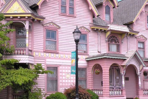 Victorian Pink House - Milford Delaware Art Print