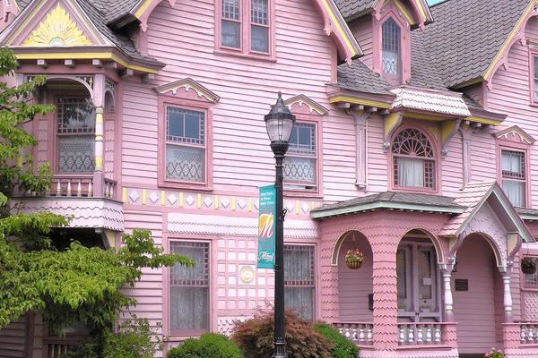Bemis Photograph - Victorian Pink House - Milford Delaware by Kim Bemis