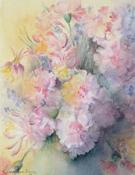 Wall Art - Painting - Victorian Posy by Karen Armitage