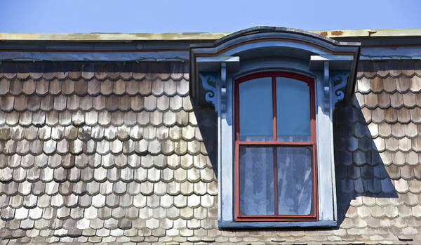 Photograph - Victorian Red Wood Window II by David Letts