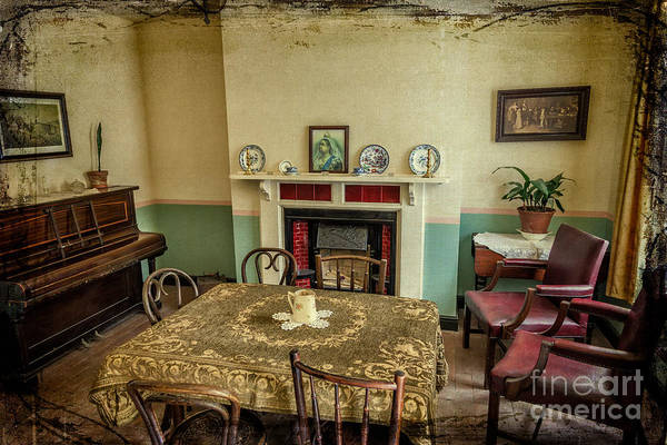 Fire Place Photograph - Victorian Room by Adrian Evans