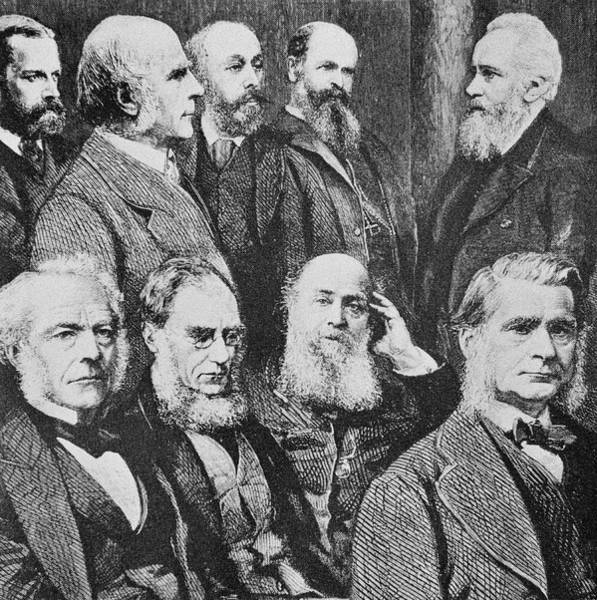 Wall Art - Photograph - Victorian Scientists by Science Photo Library