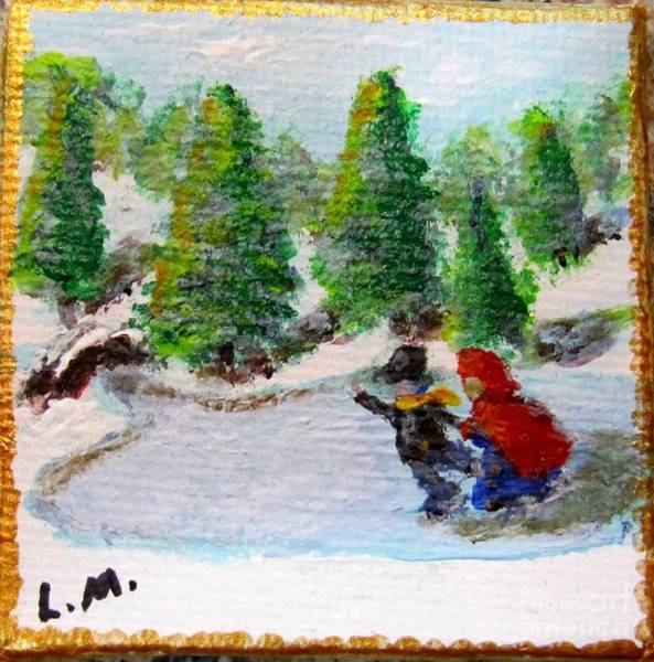 Painting - Victorian Skaters by Laurie Morgan