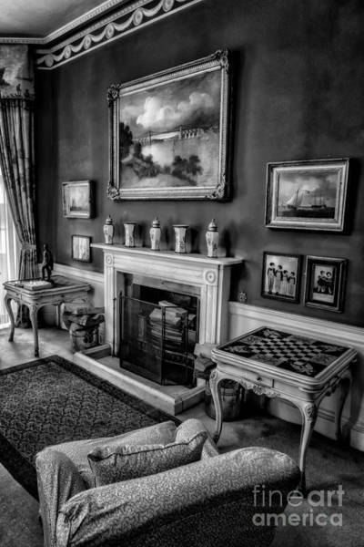 Fire Place Photograph - Victorian Style V2 by Adrian Evans
