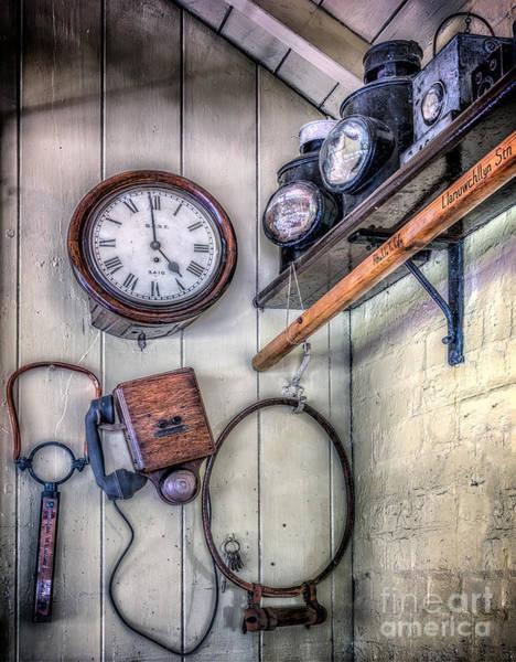 Railway Station Photograph - Victorian Train Memorabilia by Adrian Evans