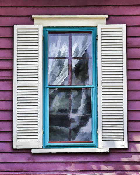 Photograph - Victorian Window Of Cape May by David Letts