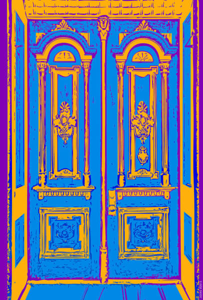 Victorian House Digital Art - Victoriandoorpopart by Greg Joens