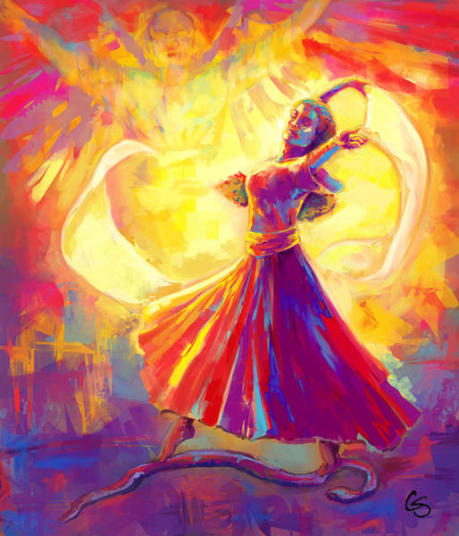 Wall Art - Painting - Victory Dance by Tamer and Cindy Elsharouni