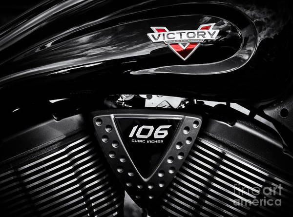 Victory Motorcycle Photograph - Victory Monochrome by Tim Gainey