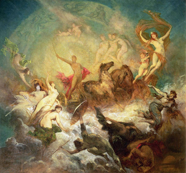 Chariot Wall Art - Photograph - Victory Of Light Over Darkness, 1883-84 by Hans Makart
