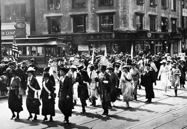 Equal Rights Photograph - Victory Parade, 1920 by Granger