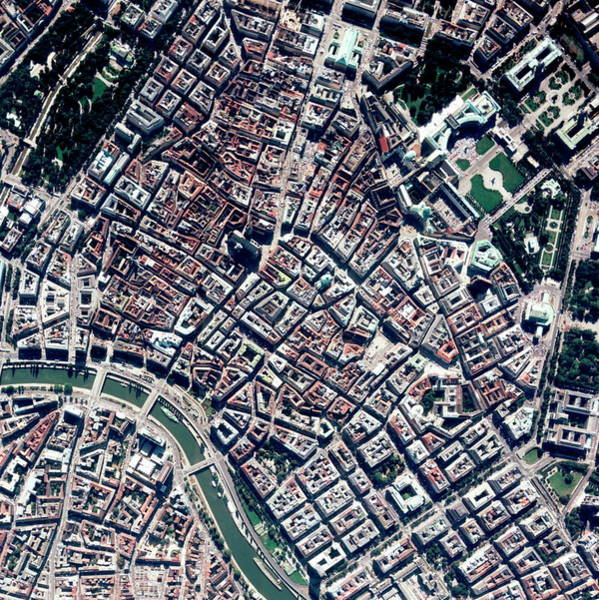 City Centre Photograph - Vienna by Geoeye/science Photo Library