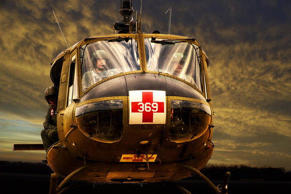 Wall Art - Photograph - Vietnam Era Medivac 369 Helicopter by Thomas Woolworth