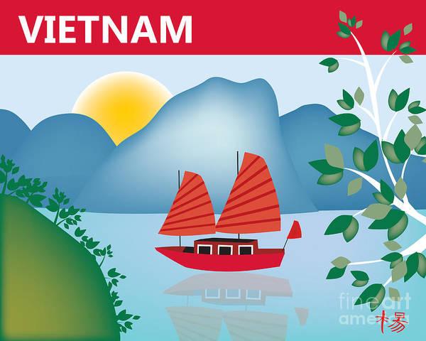 Wall Art - Digital Art - Vietnam Horizontal Scene by Karen Young