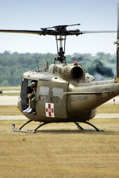 Wall Art - Photograph - Vietnam Medevac Copter 369 by Thomas Woolworth