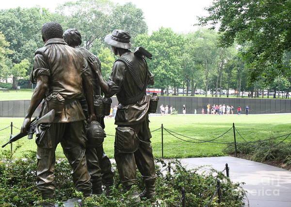 Photograph - Vietnam Memorial 1 by Jim Gillen