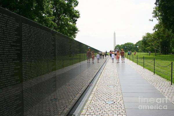 Photograph - Vietnam Memorial 4 by Jim Gillen