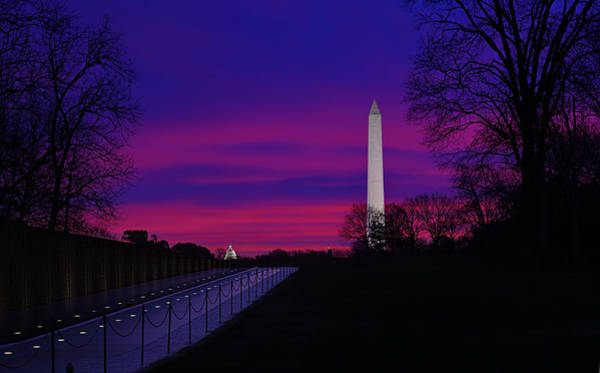 Photograph - Vietnam Memorial Sunrise by Metro DC Photography