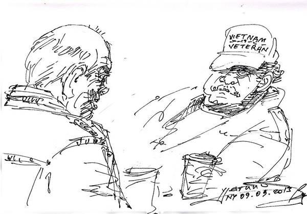 Vietnam Drawing - Vietnam Veteran by Ylli Haruni