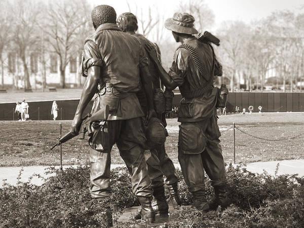 Veterans Photograph - Vietnam Veterans Memorial - Washington Dc by Mike McGlothlen