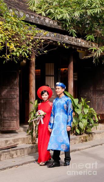 Rick Piper Photograph - Vietnamese Wedding Couple 01 by Rick Piper Photography