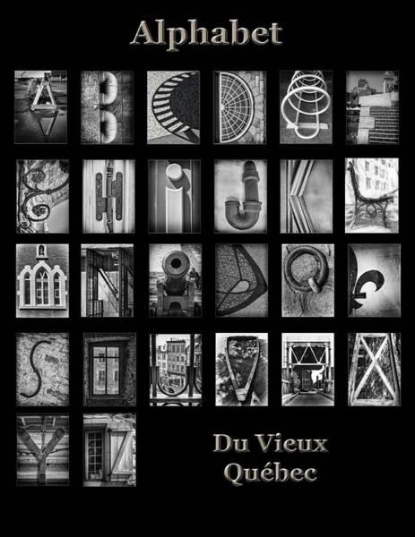 Misson Photograph - Vieux Quebec Alphabet by Lise Misson