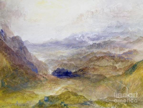 Evolution Painting - View Along An Alpine Valley by Joseph Mallord William Turner