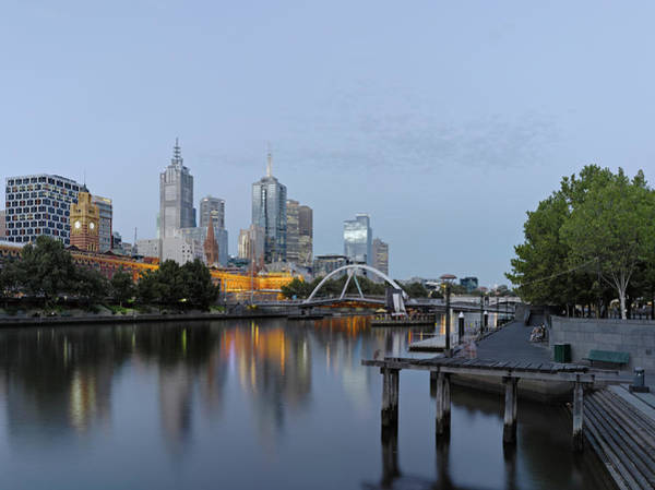 Southbank Photograph - View Along The Yarra River To The Cbd by Wayne Fogden