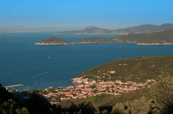 Elba Photograph - View At A Bay And The Town Of Marciana by Paolo Negri