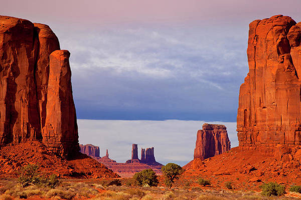 The Mitten Photograph - View At North Window, Monument Valley by Danita Delimont