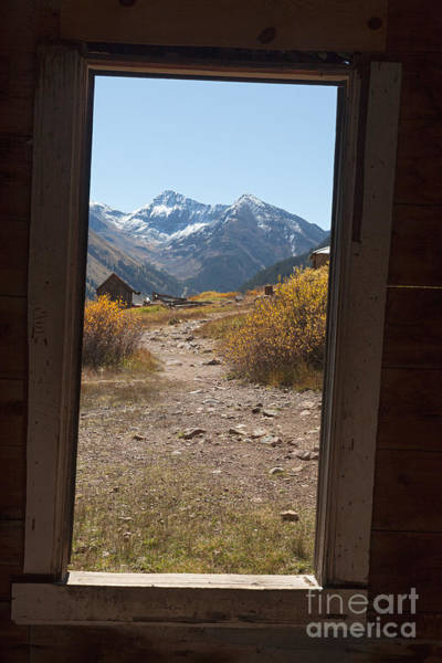Photograph - View From A Window Duncan House Or Walsh House In Animas Forks by Fred Stearns