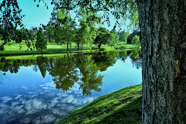 Beautiful Park Photograph - View From Accross The Lake by Tom Mc Nemar