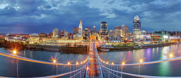 Wealth Photograph - View From Atop John A. Roebling Bridge by Adam Jones